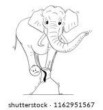 cartoon stick drawing... | Shutterstock .eps vector #1162951567
