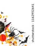 halloween holiday frame with... | Shutterstock . vector #1162952641