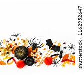 halloween holiday background... | Shutterstock . vector #1162952647