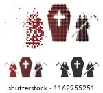 scytheman coffin guard icon in... | Shutterstock .eps vector #1162955251