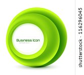 green eco business emblem.... | Shutterstock .eps vector #116296045