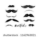 collection of stickers with... | Shutterstock .eps vector #1162963021
