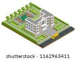 isometric public school... | Shutterstock .eps vector #1162963411