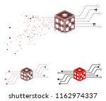 digital dice circuit icon in... | Shutterstock .eps vector #1162974337