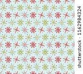 christmas snowflake stripes... | Shutterstock .eps vector #1162984324
