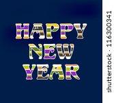 happy new year celebration... | Shutterstock .eps vector #116300341