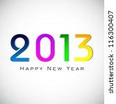 stylized 2013 happy new year... | Shutterstock .eps vector #116300407