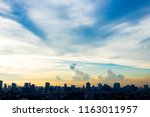 sky in the city  evening light   Shutterstock . vector #1163011957