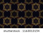 wallpaper baroque  damask.... | Shutterstock . vector #1163013154