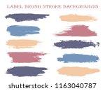 minimal label brush stroke... | Shutterstock .eps vector #1163040787