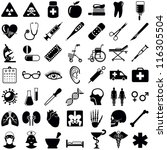 medical and health care icons... | Shutterstock .eps vector #116305504