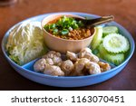 northern traditional thai food  ... | Shutterstock . vector #1163070451