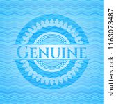 genuine water wave style emblem. | Shutterstock .eps vector #1163073487