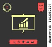 projector screen with growing... | Shutterstock .eps vector #1163082124