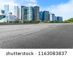 urban road asphalt pavement and ... | Shutterstock . vector #1163083837