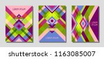 collection of cover page... | Shutterstock .eps vector #1163085007