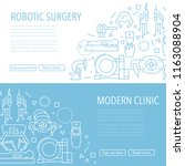 two robotic surgery banner... | Shutterstock .eps vector #1163088904