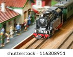 Motion Blur Of A Model Railroa...