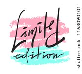 limited edition  simple inspire ... | Shutterstock .eps vector #1163090101