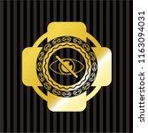 blind icon inside gold badge   Shutterstock .eps vector #1163094031