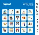 team icon set. virtual group... | Shutterstock .eps vector #1163098837