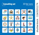 consulting icon set. changes... | Shutterstock .eps vector #1163101174