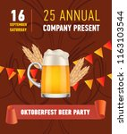 oktoberfest beer party... | Shutterstock .eps vector #1163103544