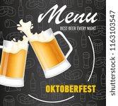 oktoberfest  menu lettering... | Shutterstock .eps vector #1163103547
