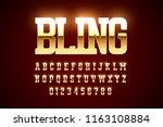 bling style gold font design ... | Shutterstock .eps vector #1163108884