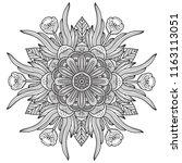 black and white mandala vector... | Shutterstock .eps vector #1163113051