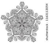 black and white mandala vector... | Shutterstock .eps vector #1163113054