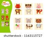 matching children educational... | Shutterstock .eps vector #1163115727