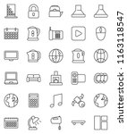 thin line vector icon set  ... | Shutterstock .eps vector #1163118547