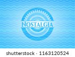nostalgia water wave concept... | Shutterstock .eps vector #1163120524