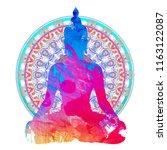 chakra concept. inner love ... | Shutterstock .eps vector #1163122087