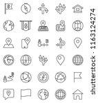 thin line vector icon set  ... | Shutterstock .eps vector #1163124274