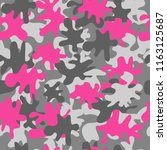 trendy fashion camouflage... | Shutterstock .eps vector #1163125687