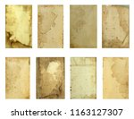 old papers set. old  grunge... | Shutterstock . vector #1163127307