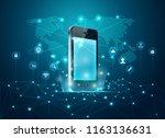 concept of communication... | Shutterstock .eps vector #1163136631