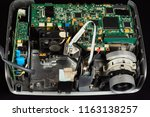 disassembled dlp projector on a ... | Shutterstock . vector #1163138257