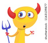 funny cartoon devil with...   Shutterstock .eps vector #1163139877