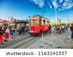 istanbul  turkey  old fashioned ... | Shutterstock . vector #1163141557