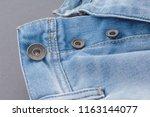 part of denim pants with pocket ... | Shutterstock . vector #1163144077
