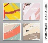 creative artistic backgrounds... | Shutterstock .eps vector #1163150881
