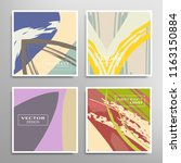creative artistic backgrounds... | Shutterstock .eps vector #1163150884