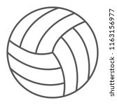 volleyball thin line icon  game ... | Shutterstock .eps vector #1163156977