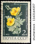 ussr   circa 1972  postage... | Shutterstock . vector #1163164357