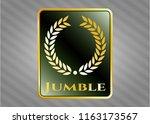 gold emblem with laurel wreath ...   Shutterstock .eps vector #1163173567