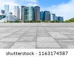blue sky  empty marble floor... | Shutterstock . vector #1163174587