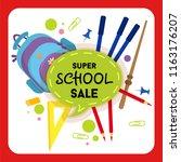 school sale label  badge....   Shutterstock .eps vector #1163176207